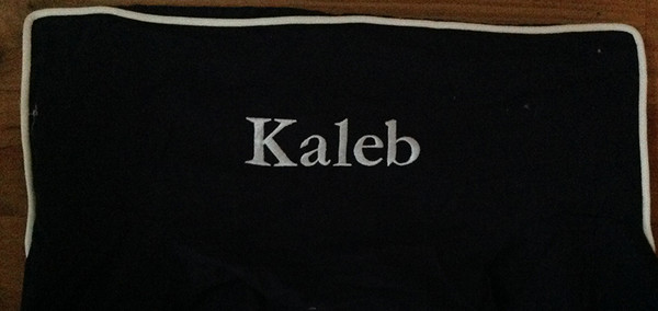 Premonogrammed Regular Size Ugly-Where Chair - Kaleb - L1254 - Navy, White Piping