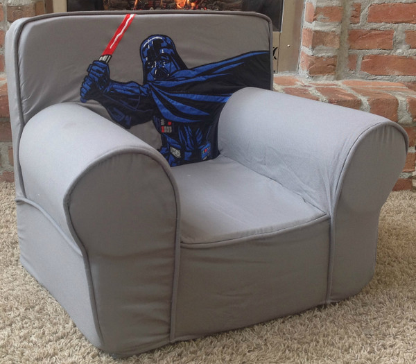 Ugly-Where Chair Slipcover - Regular Size - Free Personalization - Gray Darth Vader