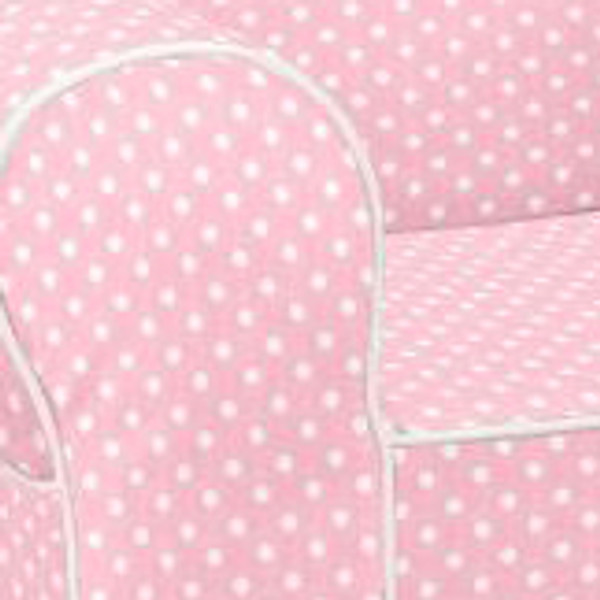 Ugly-Where Chair Slipcover - Regular Size - Free Personalization - Light Pink Mini Dot