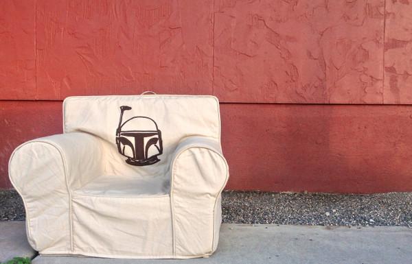 Ugly-Where Chair  - Regular Size - Free Personalization - Free Shipping - Boba Fett (Mandalorian) Star Wars Tan