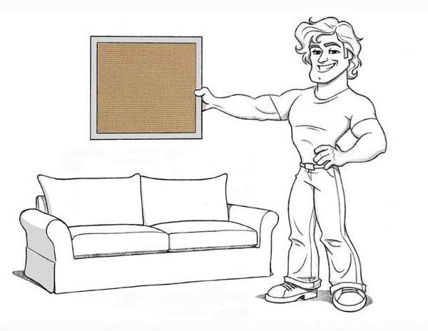 Comfort Grand Sofa Slipcover Set - Knife Edge Cushions - Walnut Brushed Canvas - locl