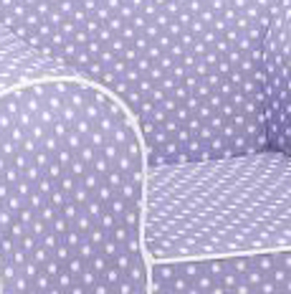Ugly-Where Chair Slipcover - Oversized - Free Personalization - Lavender Mini Dot