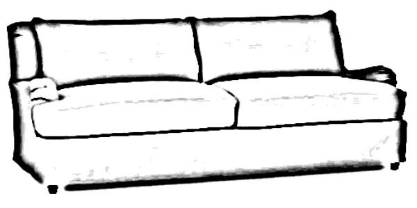 "Pottery Barn Carlisle Grand 91"" Sofa Slipcover Set - Cream Twill - L37"