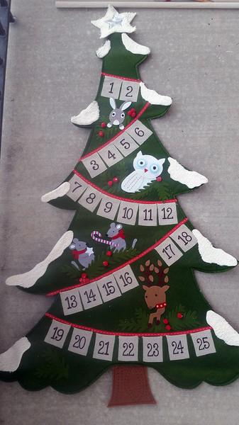 'Ugly-fied' Christmas Advent Calendar - Woodland Christmas Tree