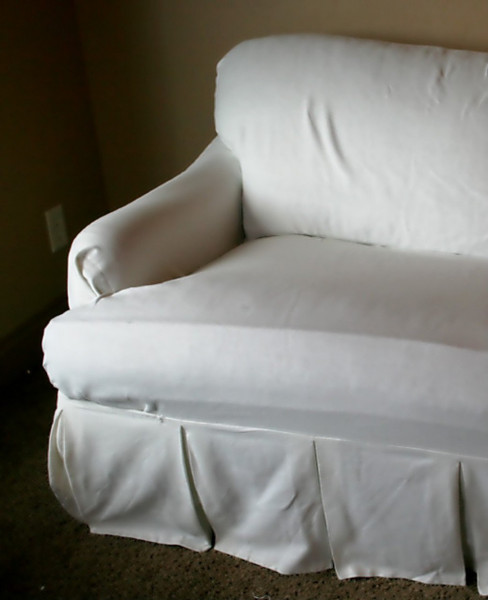 Pottery Barn Loosefit T Cushion Boxpleat Slipcover Arm Chair