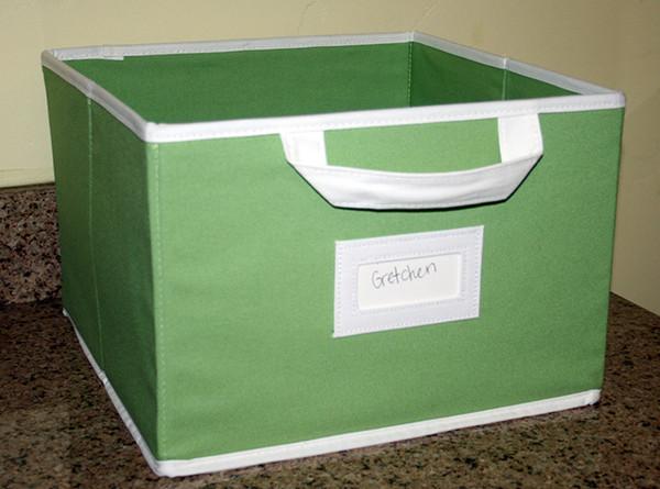 Canvas Storage Box - Light Green