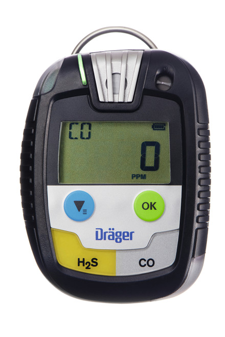 Draeger Safety PAC 8500 Gas Monitor with Hydrogen Sulfide / Oxygen Sensor