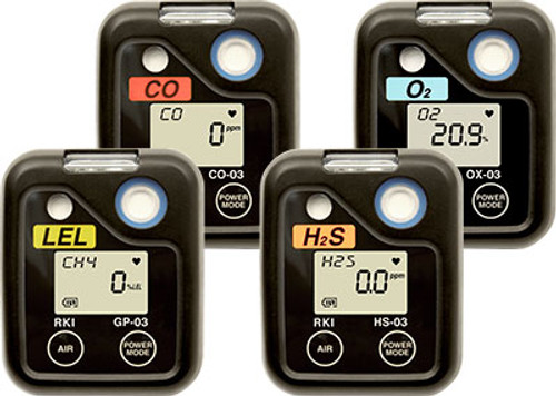 RKI Instruments 03 Single H2S Gas Personal Monitor