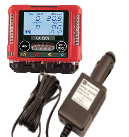 RKI Instruments GX-2009 With 12 VDC Charger & Vehicle Plug