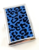 Blue Sparkling Cheetah Cigarette Case