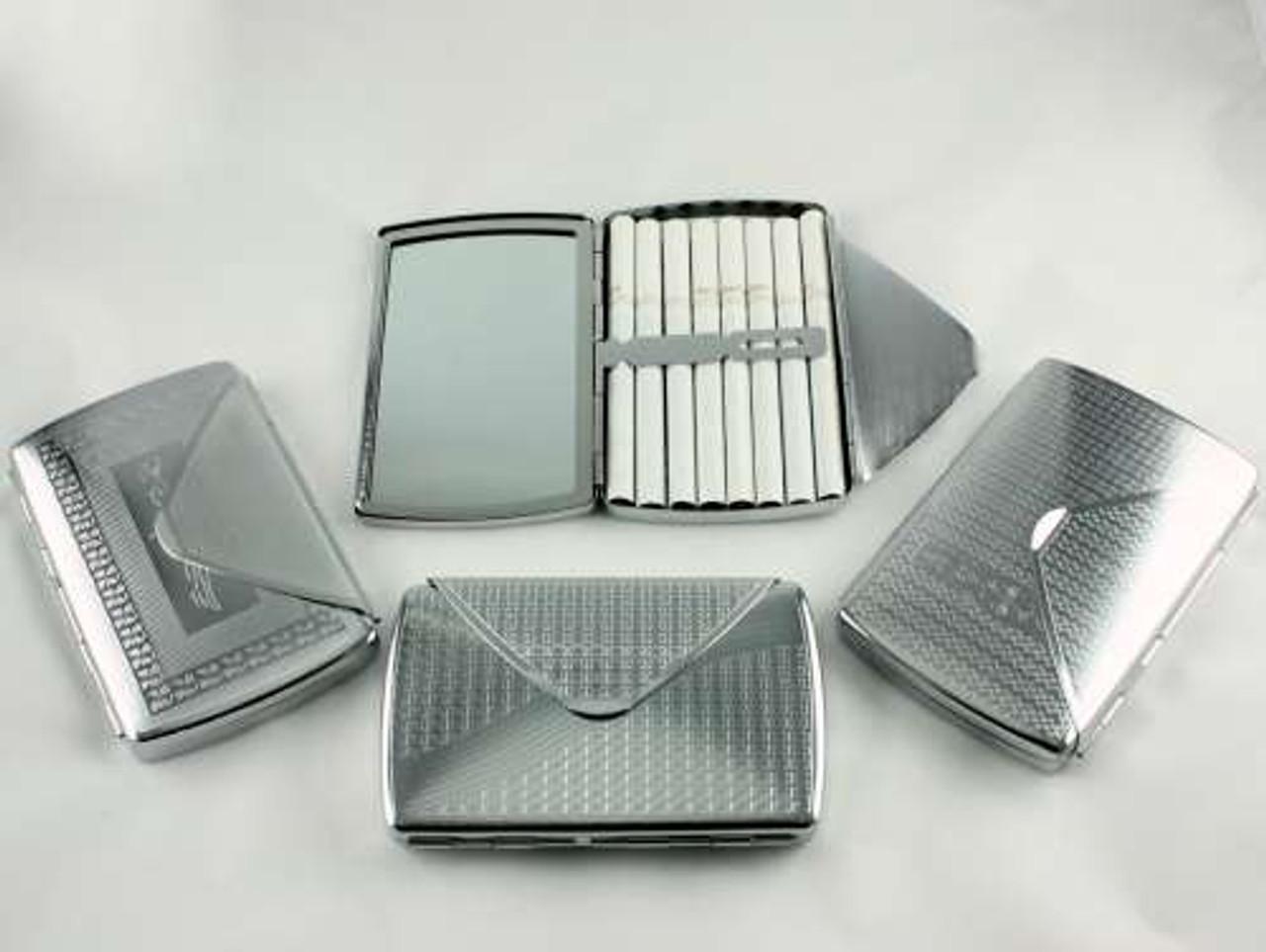 Silver Fold Mirror Cigarette Case