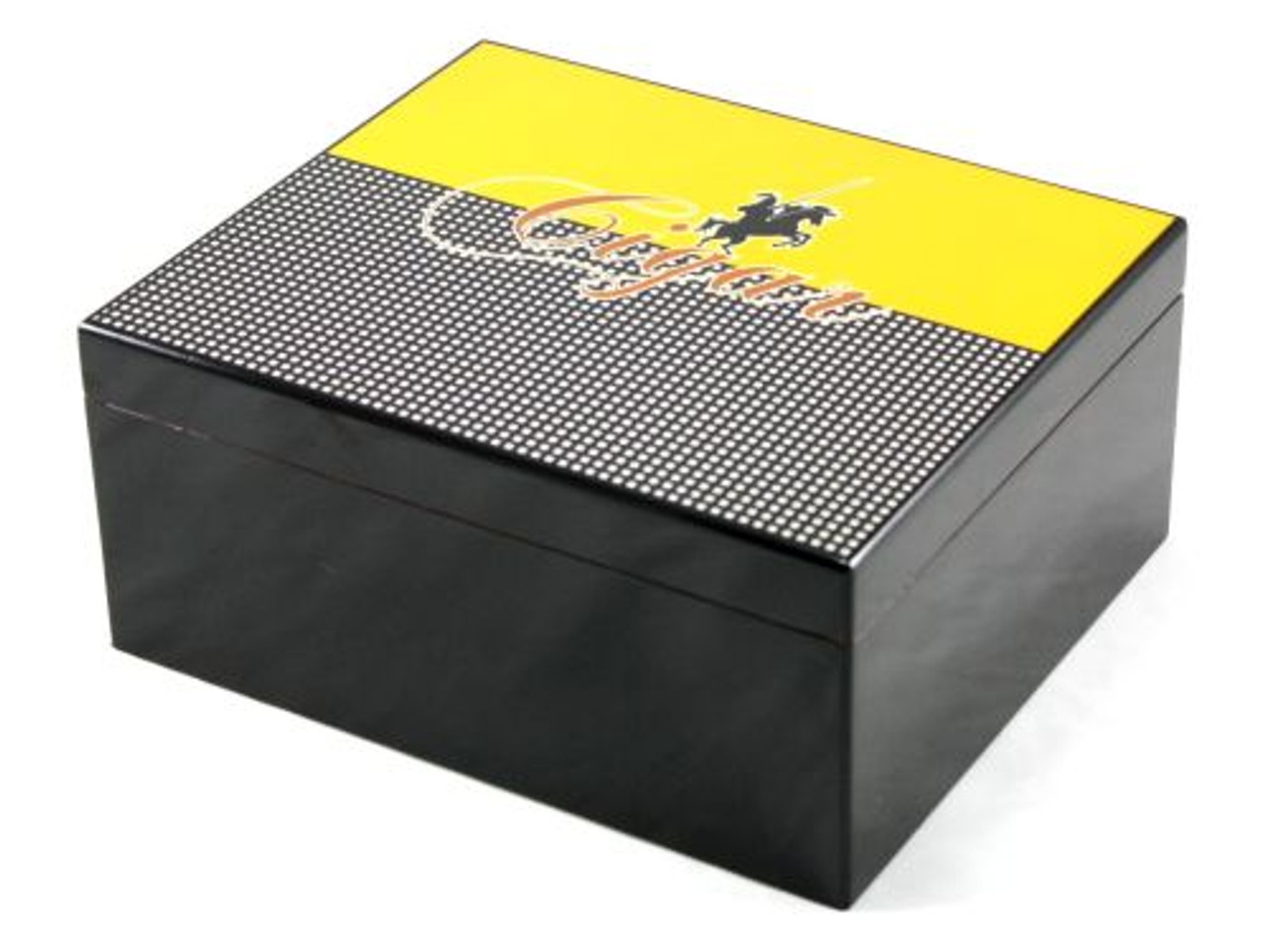 Columbo Medium Black Cigar Humidor