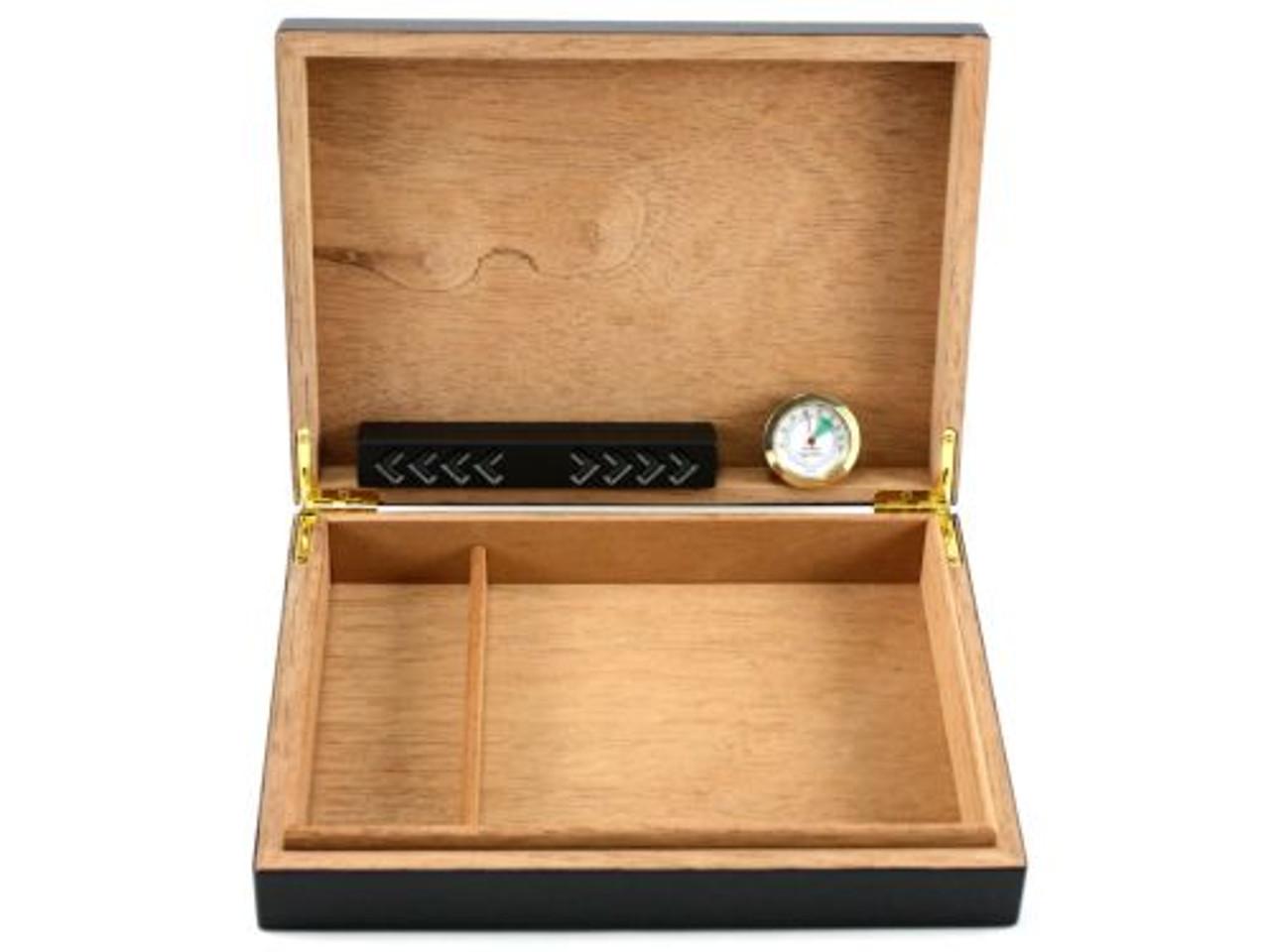 Columbo Black Cigar Humidor