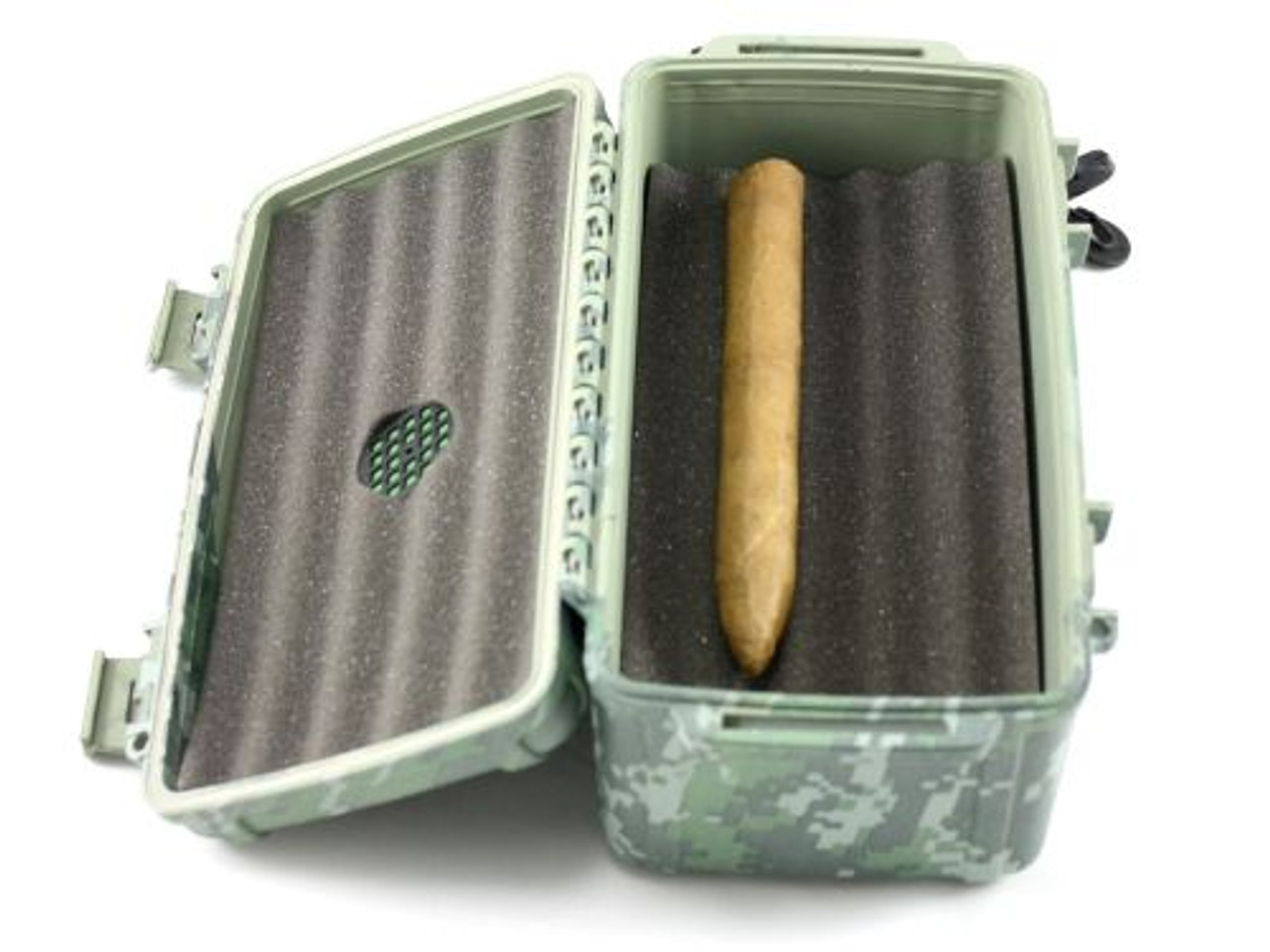 Cigar Caddy Camouflage 15 Stick Travel Cigar Humidor