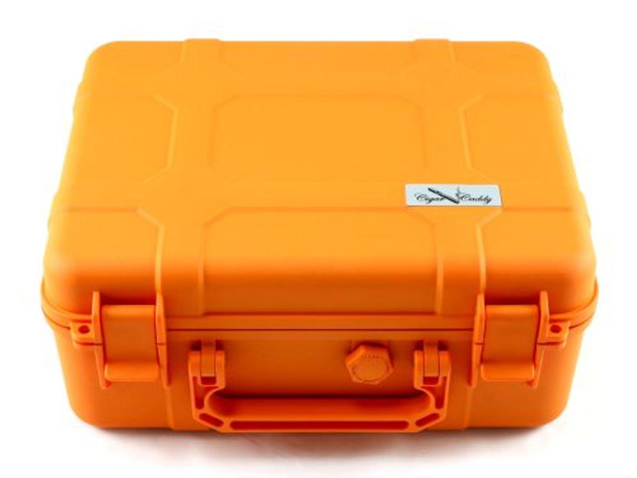 Cigar Caddy Orange 40 Stick Travel Cigar Humidor