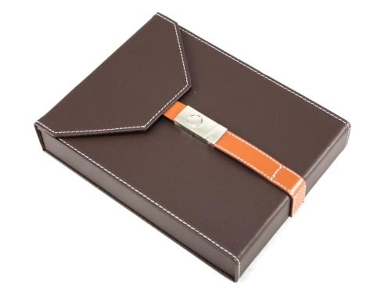 Salvatore Brown Travel Cigar Humidor
