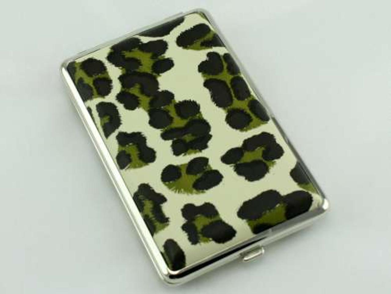 Green Cheetah Cigarette Case