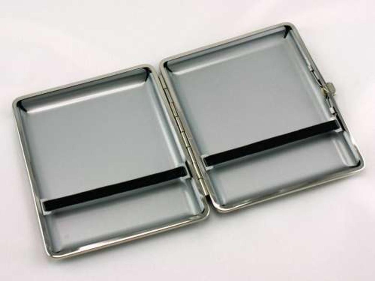 Classic Black Leather Cigarette Case