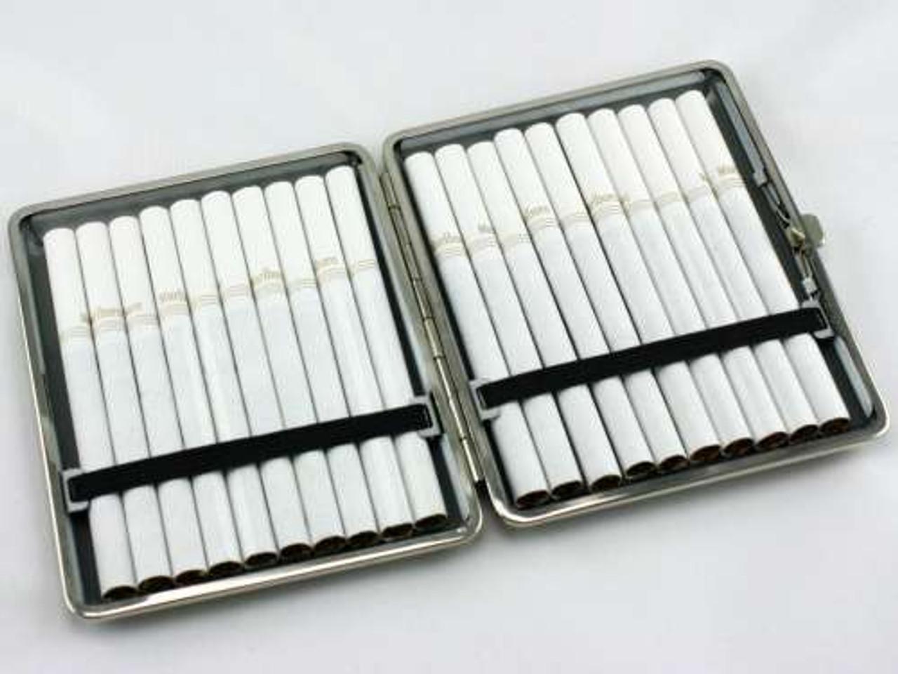 Vintage Brown Leather Cigarette Case