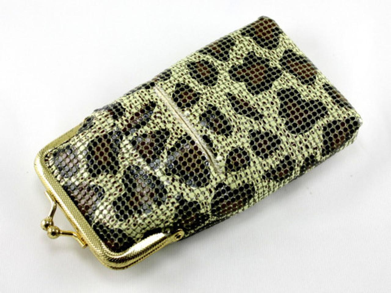 Glimmering Cheetah Cigarette Pack Holder