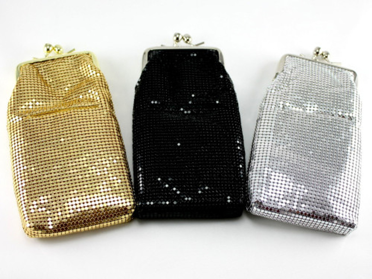 Shimmering Cigarette Pack Holder with Jeweled Clasp