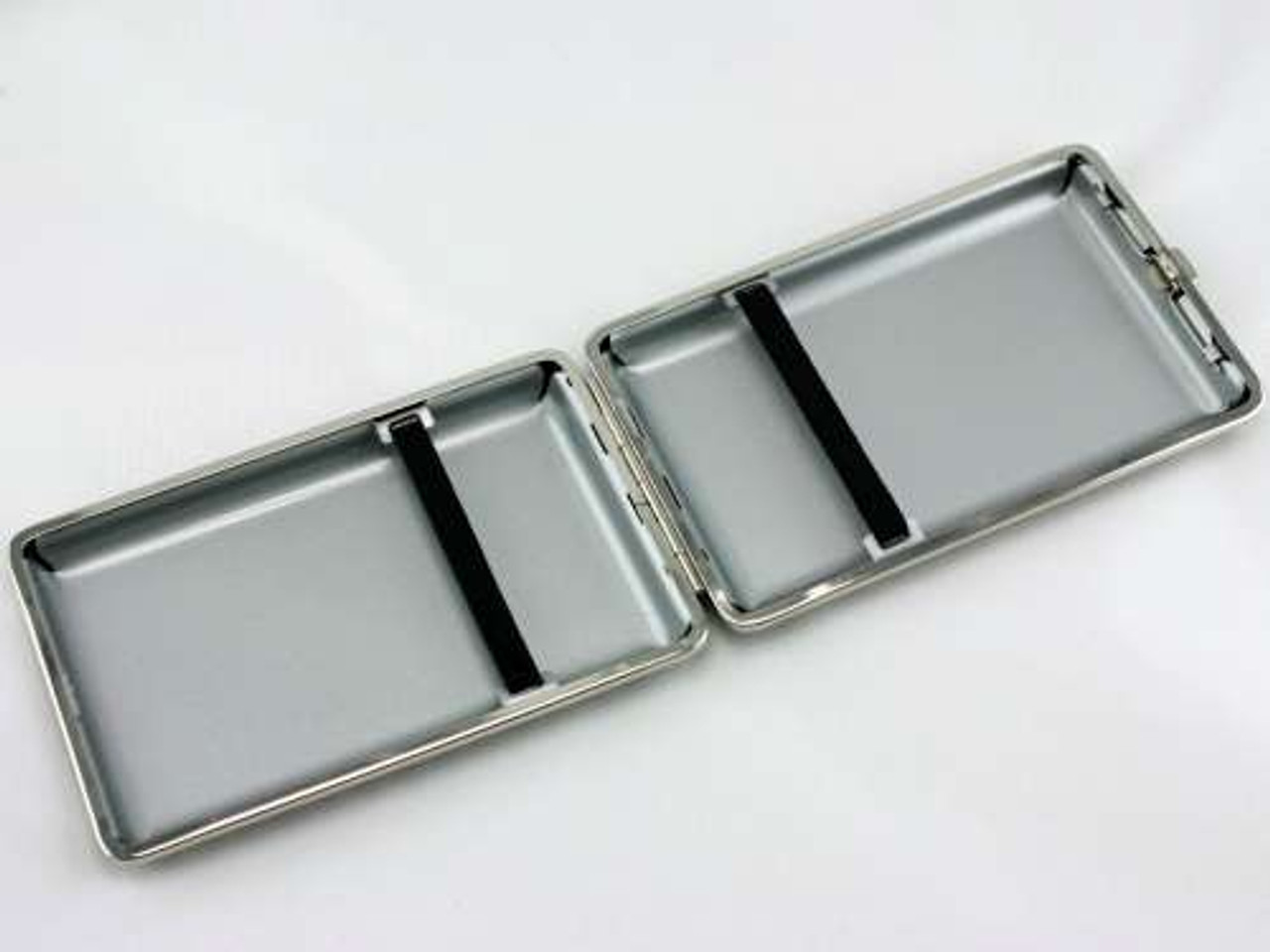 Black and Silver Checkered Cigarette Case