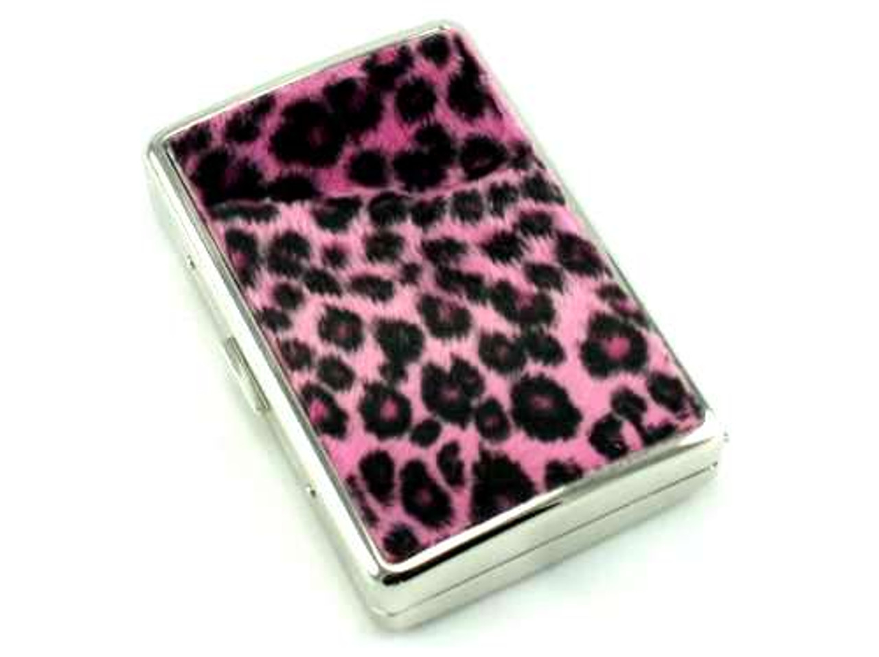 Pink Cheetah Fur Cigarette Case