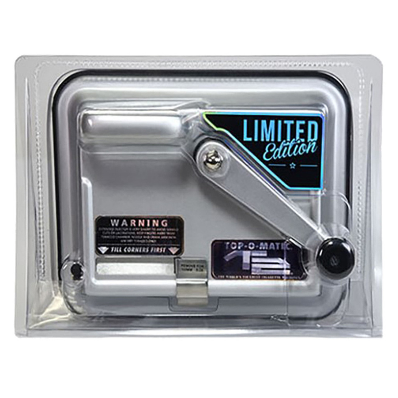 Top-O-Matic T2 Cigarette Rolling Injector Machine Limited Edition Silver