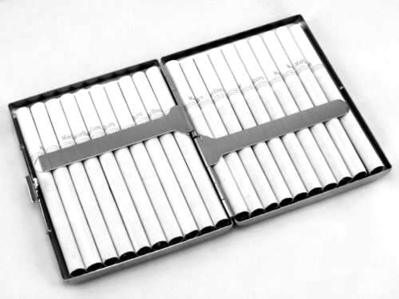 Silver Grid Cigarette Case