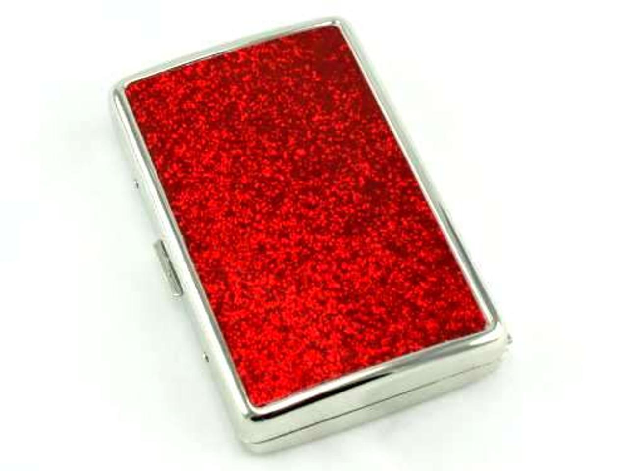 Red Glimmer Cigarette Case