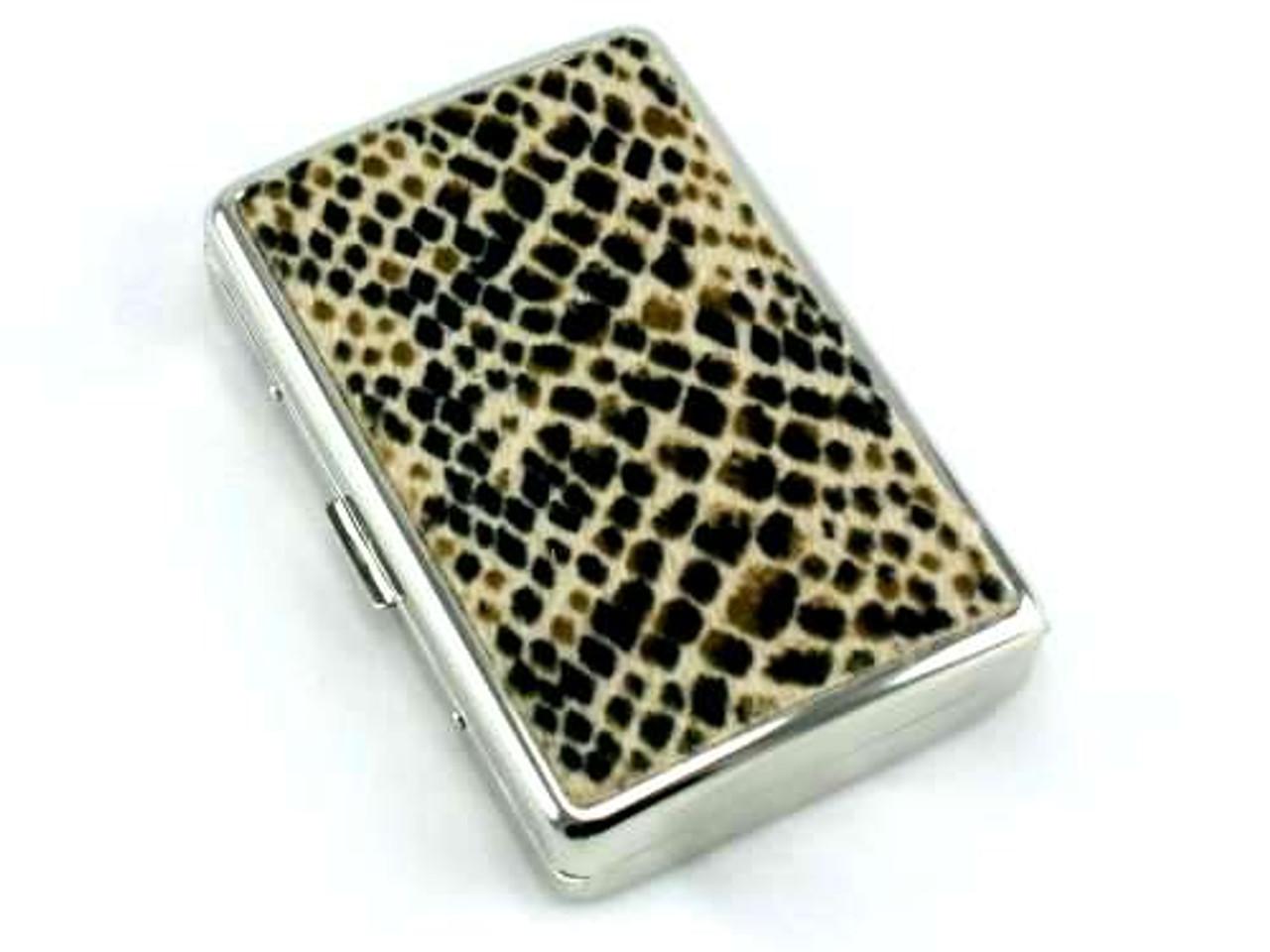 Brown Python Cigarette Case
