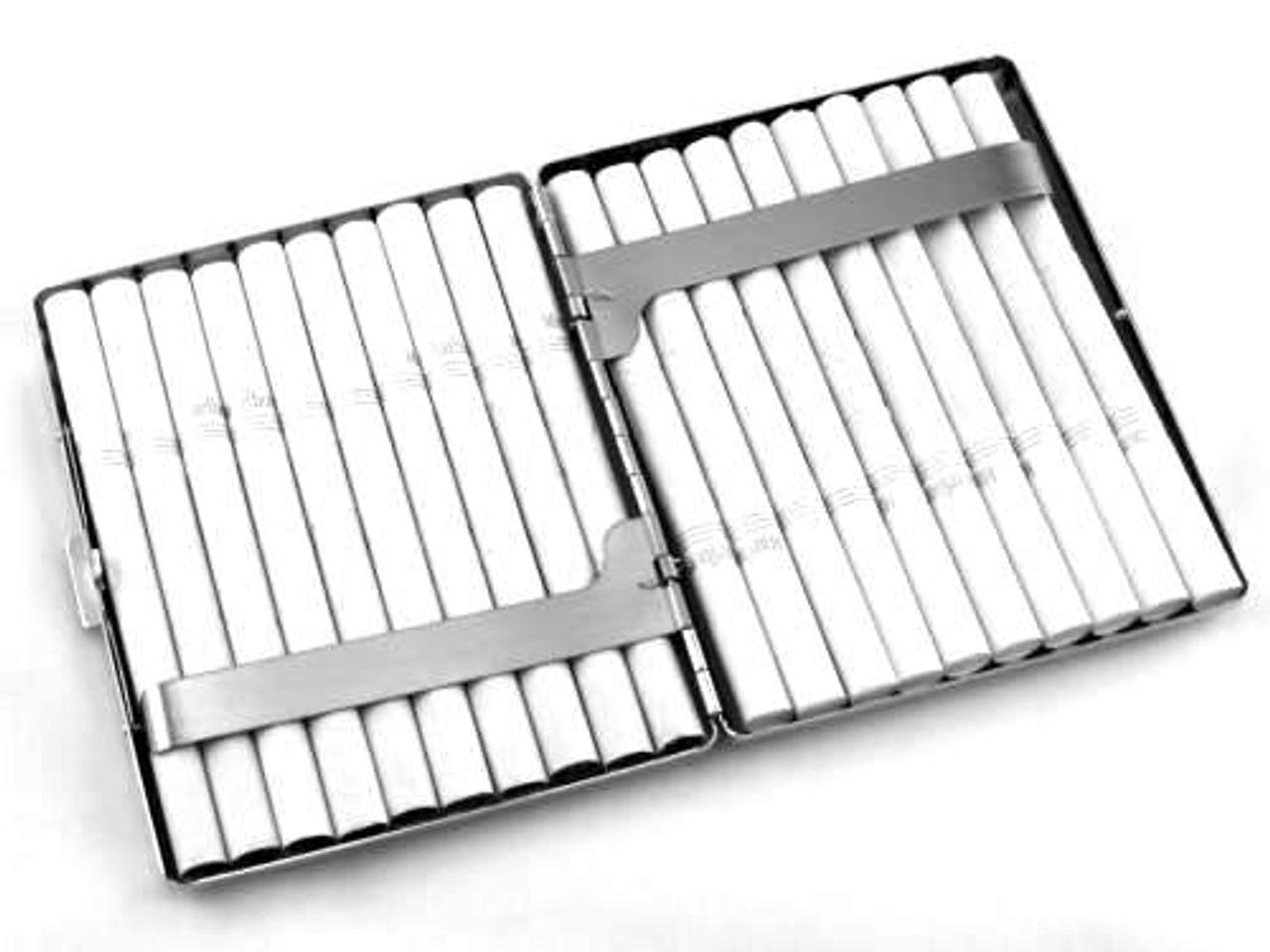 Satin Etched Cigarette Case