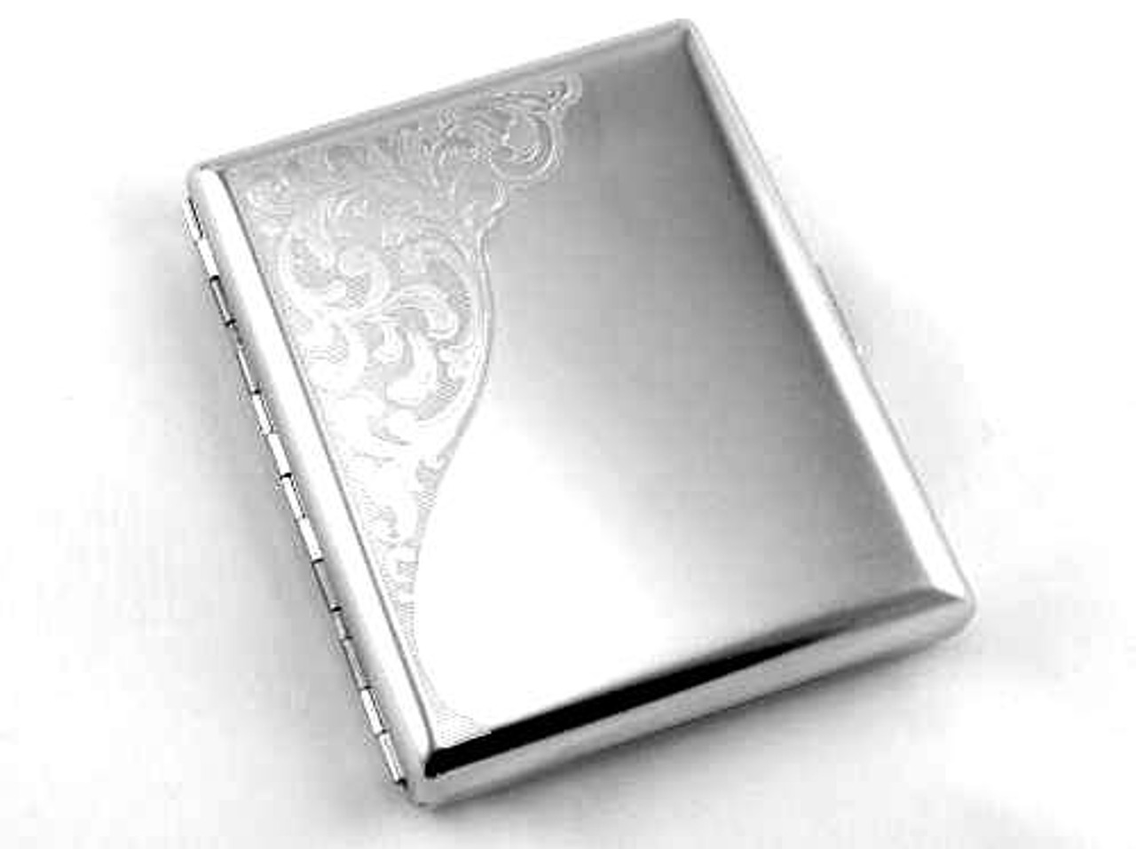 Satin Etched Cigarette Case