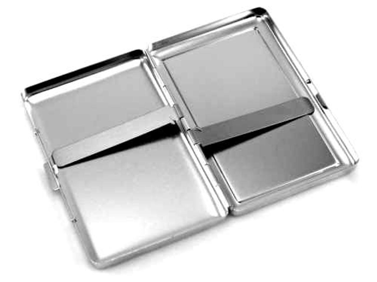 Satin Silver Cigarette Case