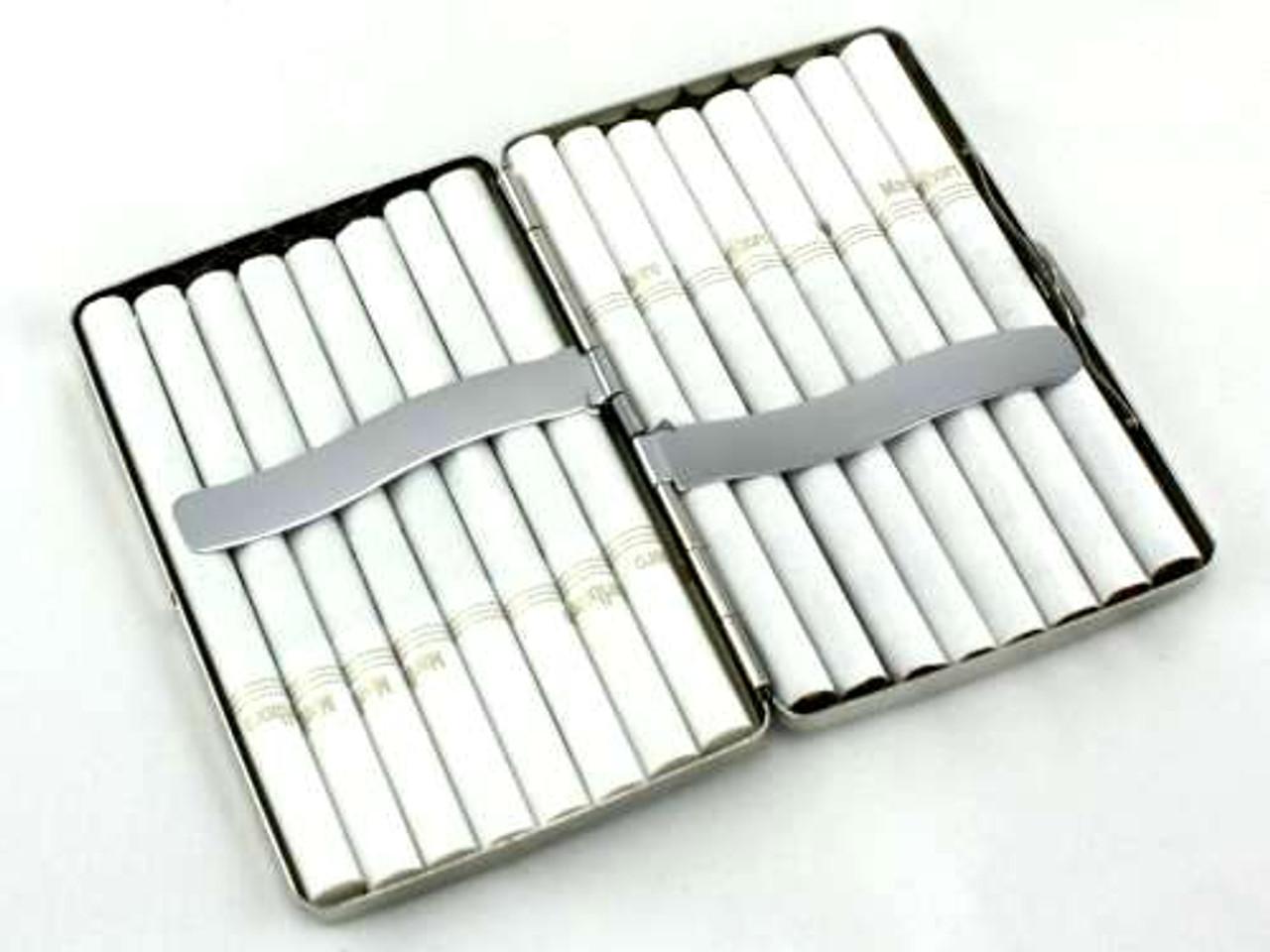 Etched Floral Cigarette Case