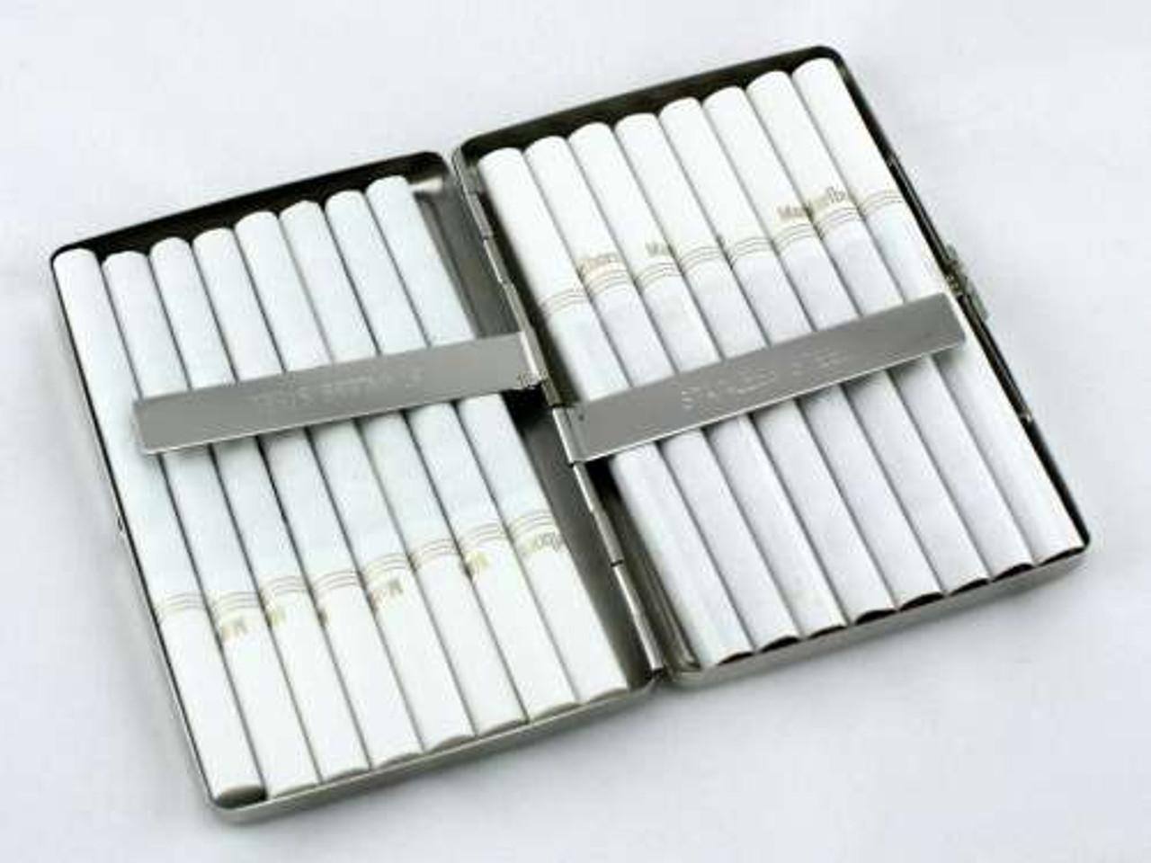 Silver Alligator Cigarette Case