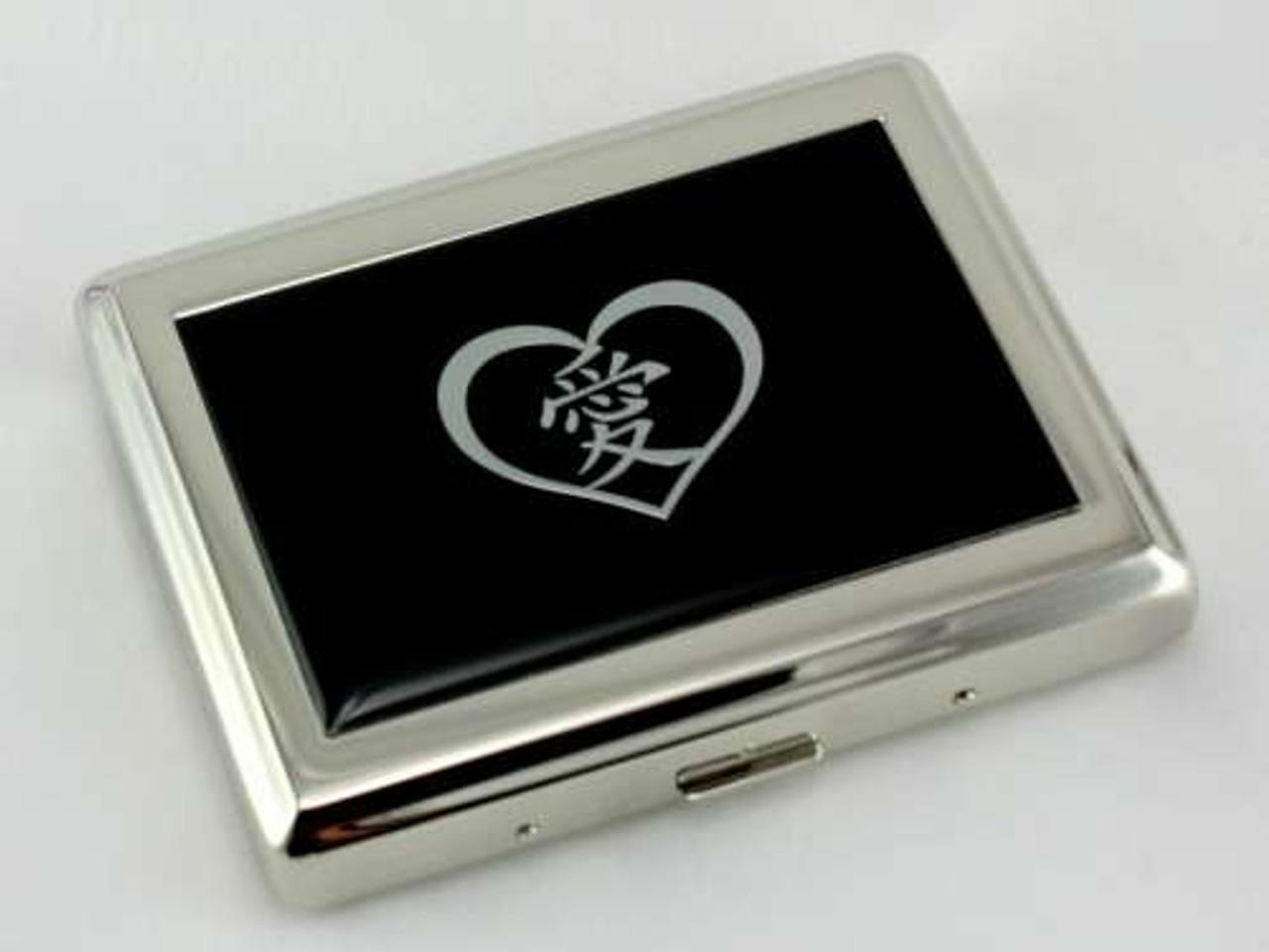 Silver Heart Symbol Cigarette Case