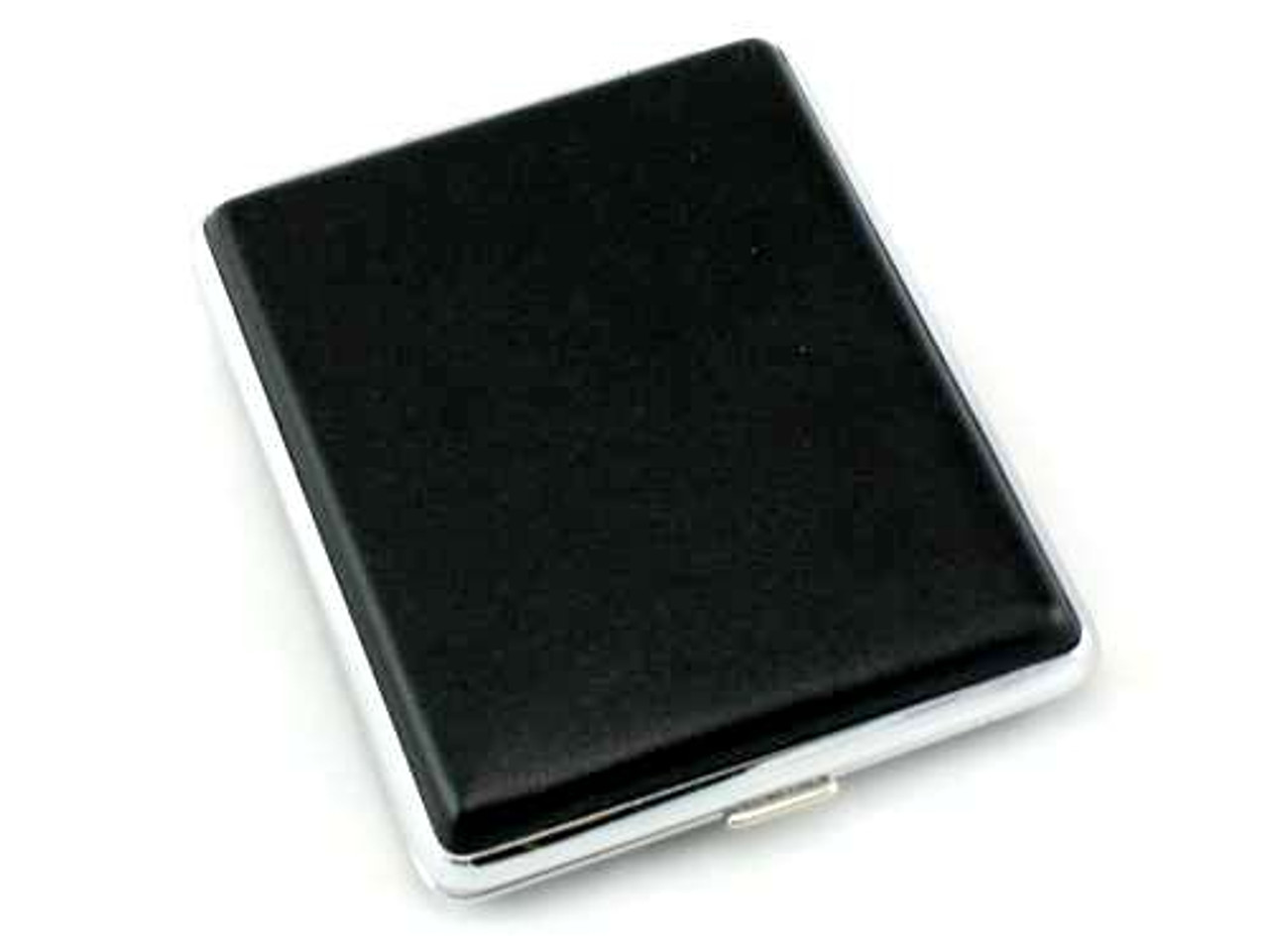 Solid Black Leather Cigarette Case