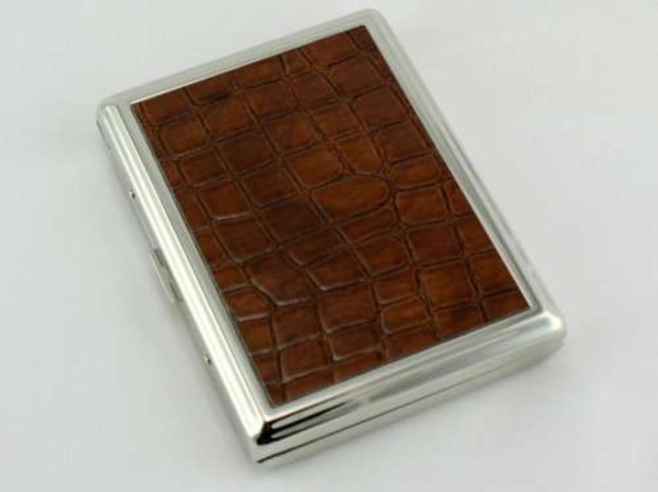 Brown Crocodile Cigarette Case
