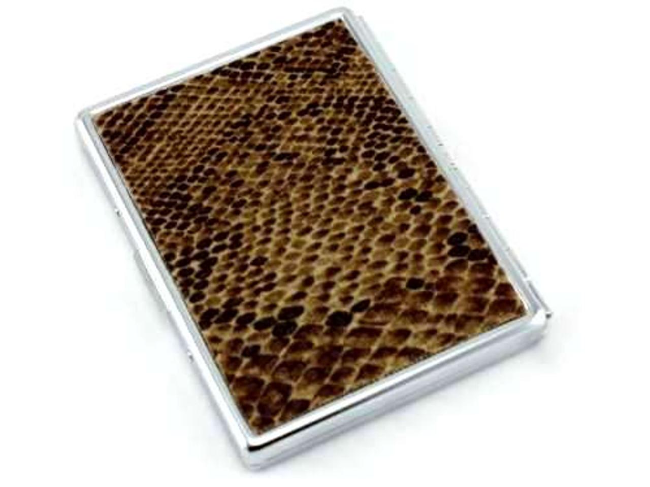 Dark Brown Python Cigarette Case