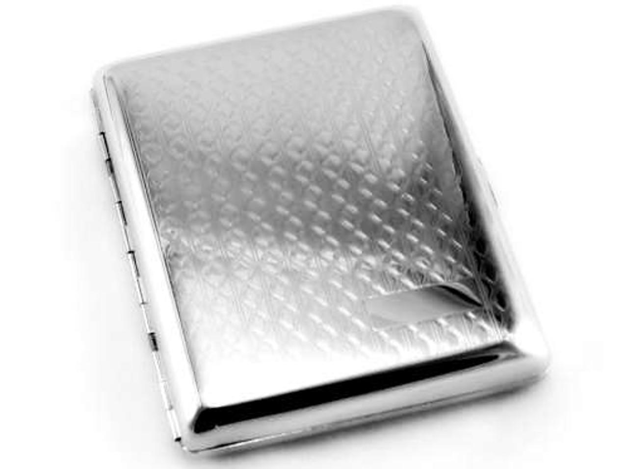 Silver Weave Cigarette Case