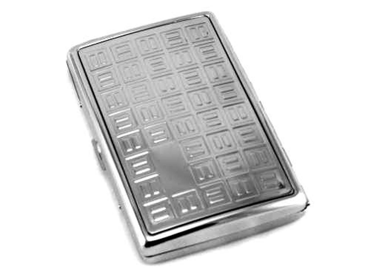 Silver Block Cigarette Case