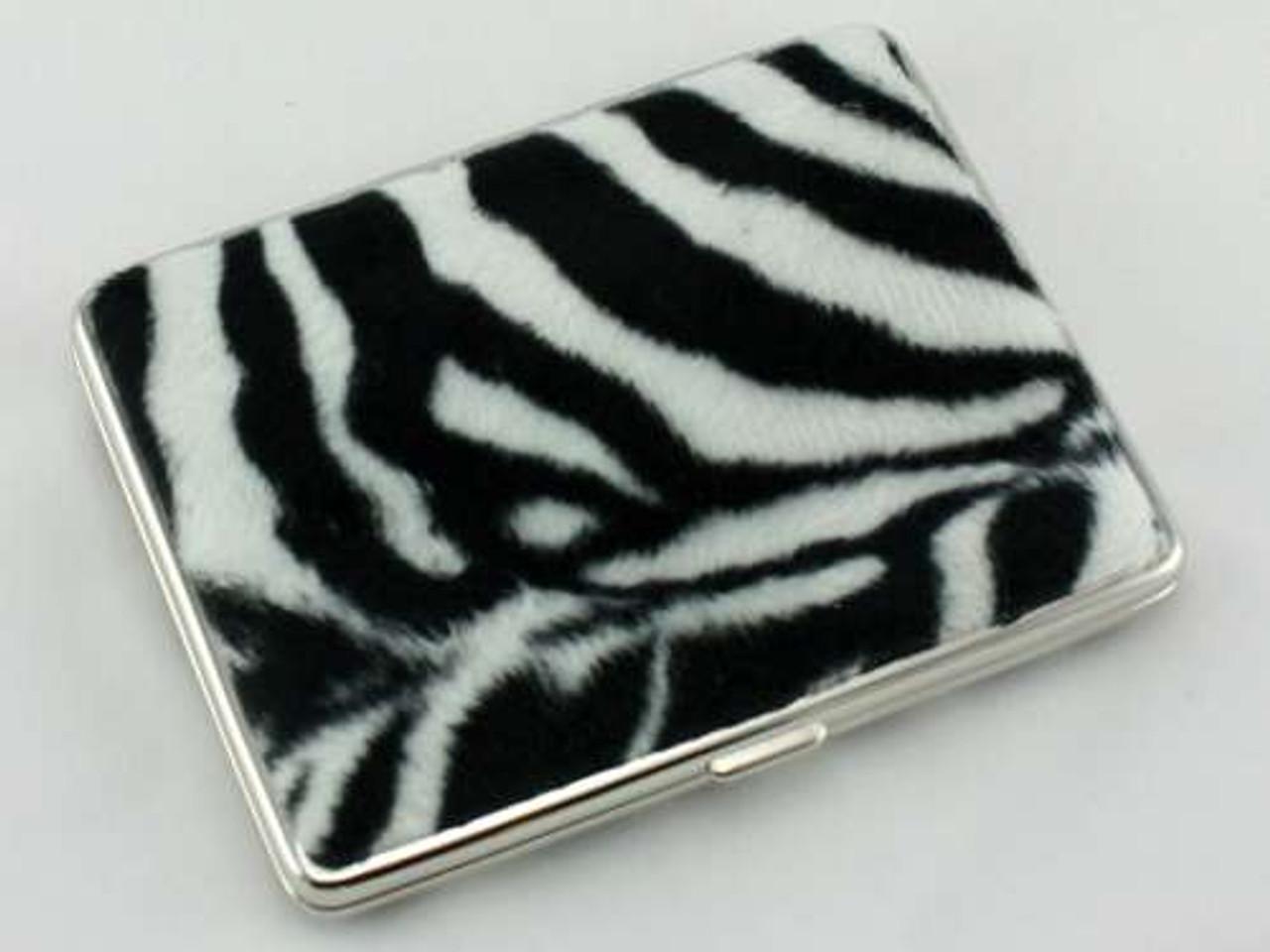 Big Zebra Fur Cigarette Case