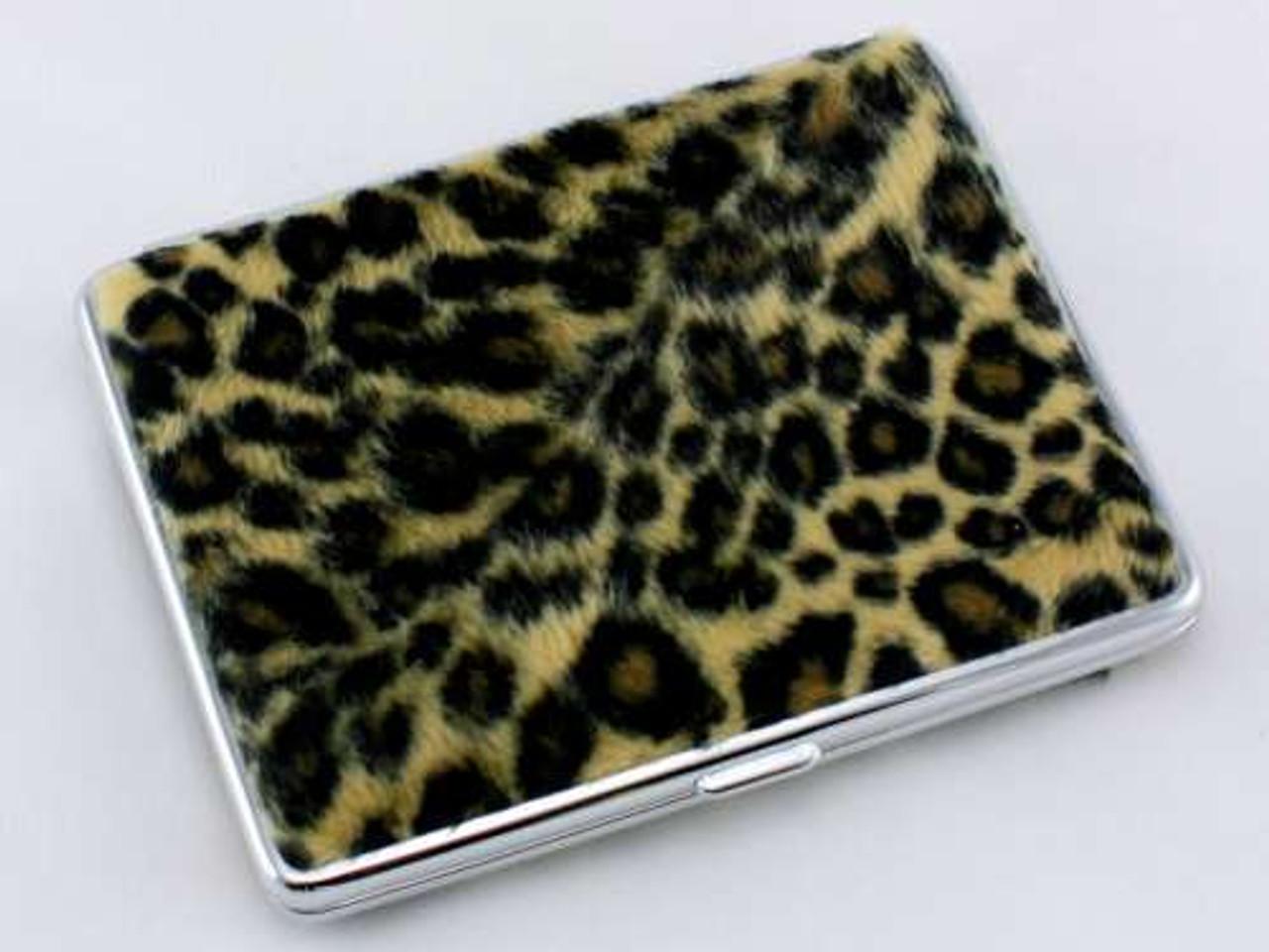 Big Cheetah Fur Cigarette Case