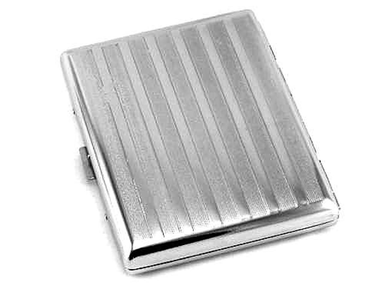 Silver Stripe Cigarette Case