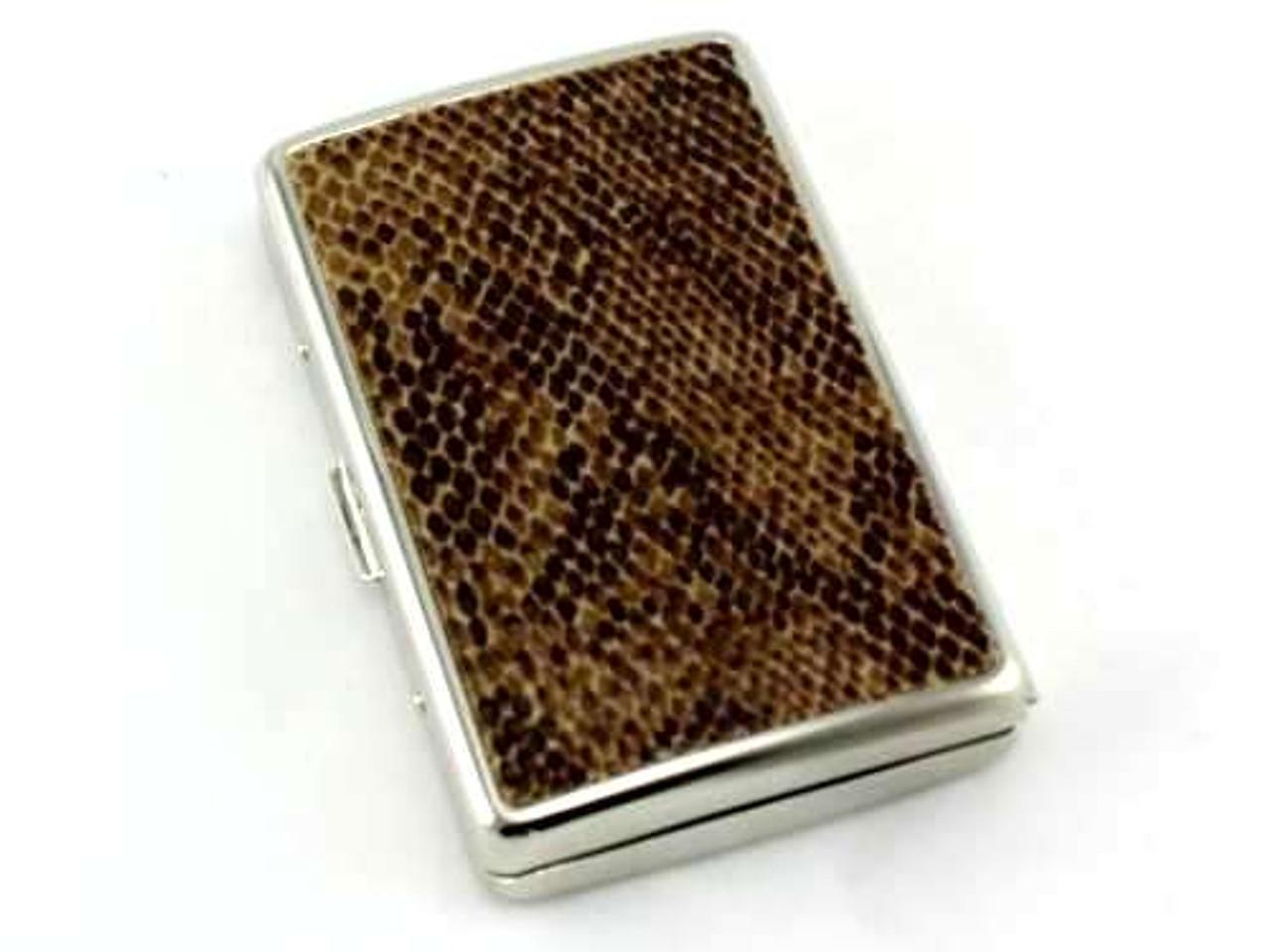 Dark Brown Snake Cigarette Case