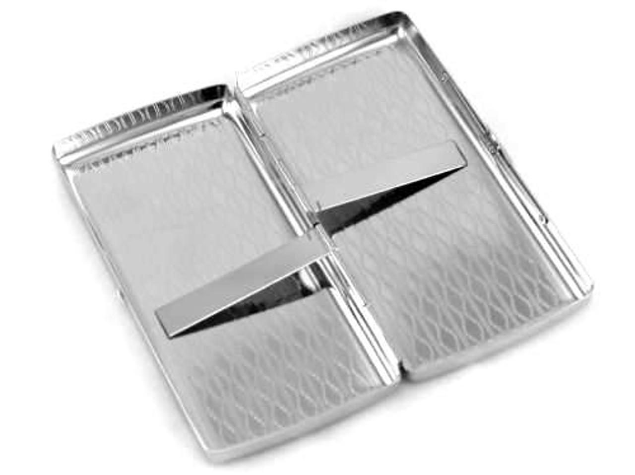Silver Oval Cigarette Case