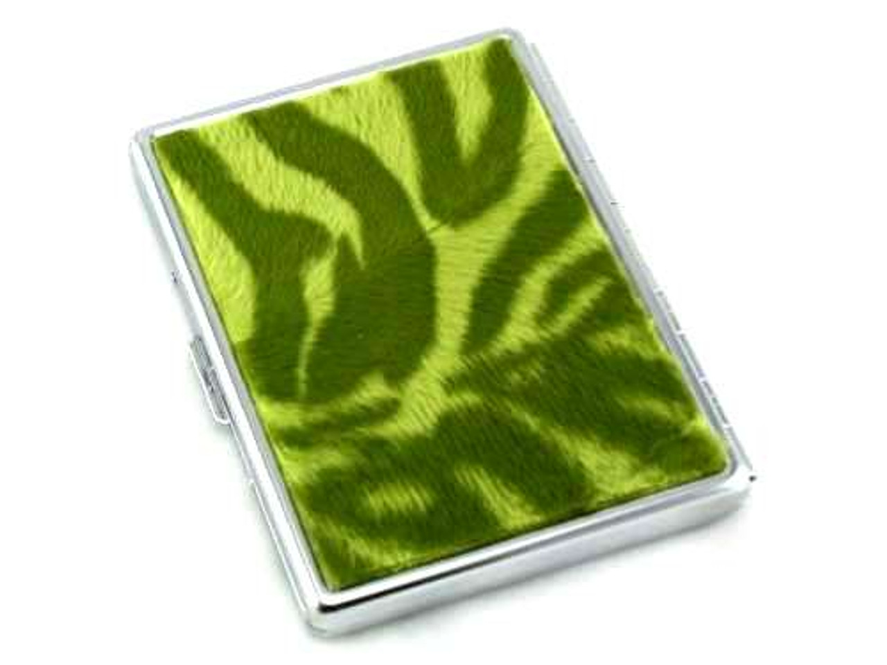 Green Tiger Fur Cigarette Case