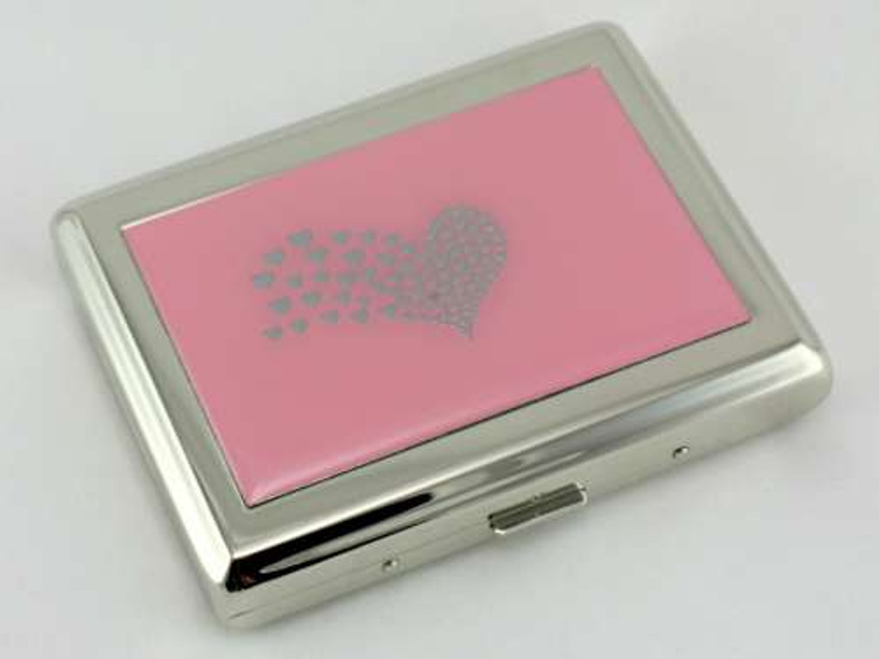Pink Heart Cigarette Case