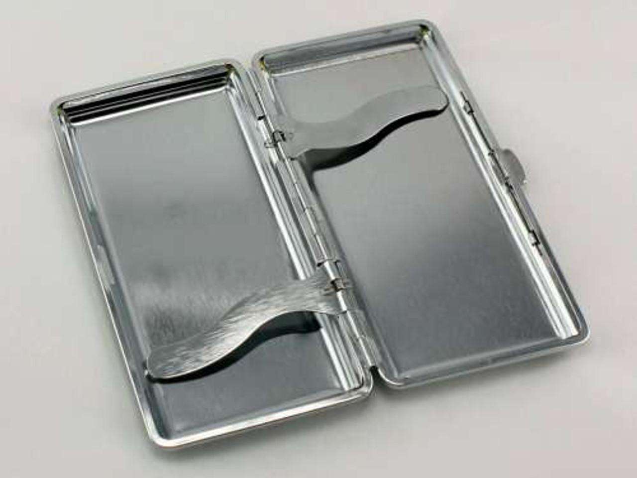 Silver Flat Cigarette Case